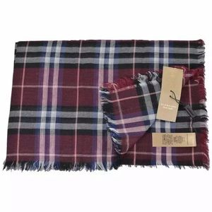 Burberry Castleford Check Lightweight Plaid Scarf